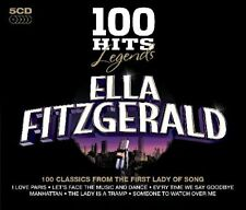 Ella Fitzgerald LEGENDS 100 HITS Best Of ESSENTIAL COLLECTION Box Set NEW 5 CD
