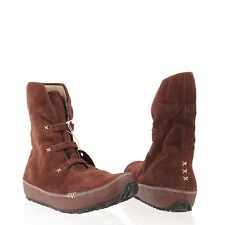Ahnu Himalaya Women's Shoes Brown Suede Short Winter Boots Size 6.5 M NEW!