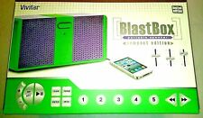 Vivitar Blast Box Portable Speaker w/Built-in 3.5mm Aux. Plug New Purple/Green