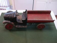 1920's BUDDY L RACHET DUMP TRUCK,  100% ORIGINAL, ALL HEAVY GAUGE STEEL