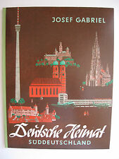 """Herba Sammelbilderalbum """"Deutsche Heimat Süddeutschland"""", komplett, Zustand 1"""