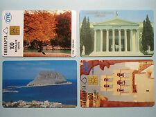 4 Telefonkarten Griechenland aus 1993-95