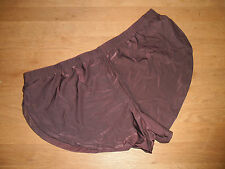 "Mens Med 30""-32"" Sexy Brown Brushed Soft Nylon Split Side Shorts Lingerie Gay UK"