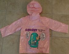 Pee Wee Herman Pink Raincoat Size 3 Excellent Condition 1989 Rare Vintage