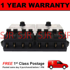 NEW 8 WAY UNIVERSAL STANDARD 12V 12 VOLT ATC BLADE FUSE BOX CLEAR MOTORHOME