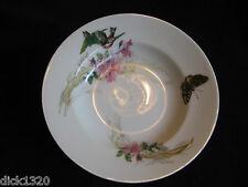 "VICI HAVILAND-LIMOGES HAND-PAINTED 'MEADOW VISITORS' 9"" SOUP PLATE 1876-89 EX"