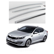 New Chrome Sun Visor Shade Rain Vent Wind Guard K717 for Kia Optima 2011-2013