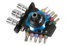 PALM RATCHET TOOL SET INCLUDES COLOUR BITS SOCKETS IDEAL - HARD ACCESS PH TORX