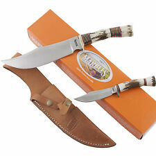 Marbles Hunting Bowie Knife Combo Set MR529 Sheath Hunter Skinning