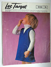 """Vintage Pattern for Girls Dress & Sweater sizes 21, 23, & 25"""" chest"""