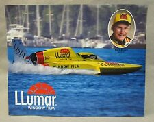 large LLUMAR promo color card picture print hydroplane boat racing