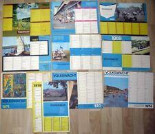 Volkswacht Gera 10 Wandkalender Jahreskalender Kalender DDR 1964 bis 1974