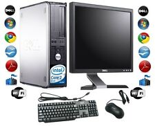 "Cheap Desktop PC Computer Set Dell Windows 7 With 17"" TFT Monitor   + FREE P&P"