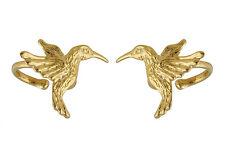 Hummingbird Ear Cuff Earring - 24k Gold Vermeil Sterling Silver - 2 pieces *NEW*