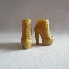 NEW Barbie Fifth Harmony Camila Doll Shoes Tan High Heel Short Boots ADD ON ITEM