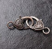10pcs tibetan silver Small Heart lobster clasp 25X14MM JK0059