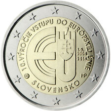 Slovakia 2014 - 2 Euro Comm - 10th Anniversary of Accession to the EU (UNC)