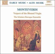 Monteverdi: Vespers of the Blessed Virgin CD NEW