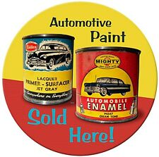Automotive Paint Sold Here round steel sign   360mm diameter    (pst) REDUCED!!