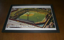 ST. LOUIS CARDINALS SPORTSMAN'S PARK FRAMED COLOR PRINT