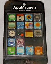 Iphone And Ipod App Icon Fridge Magnets Set of 18