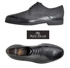 NEW $695 ALDO BRUE HANDMADE IN ITALY BLACK CALFSKIN SHOES. SZ US11