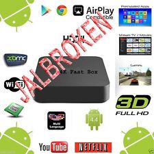 JAILBROKEN BEST 4K - XBMC KODI QUAD CORE S805 ANDROID LOADED SMART TV BOX