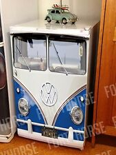 Volkswagen VW Bus Fridge Graphics - Bar Fridge - Split Kombi Blue
