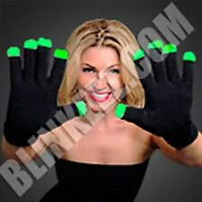 New 6 Mode LED Flashing Light Glow Finger Gloves Glove Rave Party Halloween FUN!