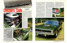 1970 PLYMOUTH HEMI CUDA 4-SPEED ~ NICE 2-PAGE ARTICLE / AD ~ 1 OF 284 PRODUCED