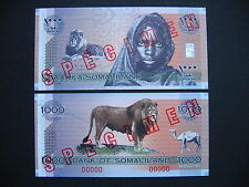 SOMALILAND  1000 Shillings 2006 Commemorative Issue  SPECIMEN  (PCS1s)  UNC