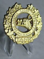 Canada Army Canadian The Argyll Light Infantry Tank Military Cap Badge Old Style