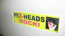 PEZ Vinyl Bumper Stickers PEZ-HEADS ROCK!  3X10 inches Great Stocking Stuffer!