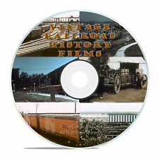 HISTORIC RAILROAD AND TRAIN BUILDING FILMS, MAINLINE U.S.A., 3 DVD'S -J15