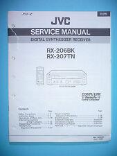 Service Manual-Istruzioni per JVC rx-206/rx-207, ORIGINALE