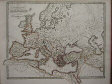 1850 SPRUNER ANTIQUE HISTORICAL MAP ~ ROMAN EMPIRE WESTERN & EASTERN DIVISION