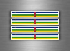 4x sticker decal car stripe motorcycle racing flag bike central african republic