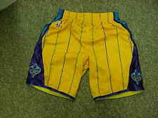 2010 New Orleans Hornets Game Worn Yellow adidas climacool Game Shorts Size-M+2L
