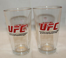 Boston Pizza UFC Ultimate Fighting Championship Set of 2 Drinking Glass Tumbler