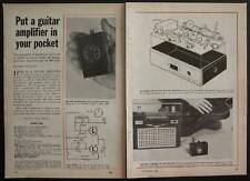 Guitar Pocket Amp Wireless Transmitter 1966 How-To build PLANS