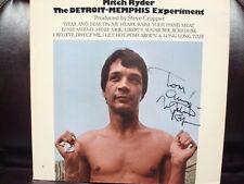 SIGNED MITCH RYDER DETROIT MEMPHIS EXPERIMENT RECORD LP