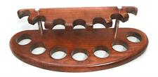 Stand Rack Hold for 7 Tobacco Smoking PIpes, handicraft, Handmade Wood + Brass