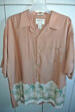 Bamboo Cay  Mens XXL  Palms & Clouds Horizontal Band Print on Brown/Nice