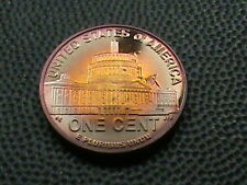 UNITED STATES   1 cent   2009  -  S   PROOF   ,   #  3  BEAUTIFUL  RAINBOW  TONE