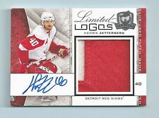 HENRIK ZETTERBERG 2008/09 THE CUP LIMITED LOGOS 2 COLOR PATCH AUTOGRAPH AUTO /50