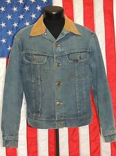 VTG Lee Storm Rider 70's Blanket Lined Corduroy Denim Western Jacket Trucker USA