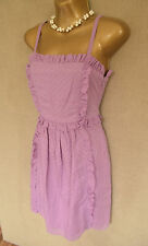 MARC BY MARC JACOBS Purple polka dot ruffle cotton tea dress Size 0 W25 (4-6)
