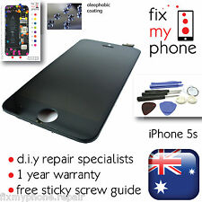 iPhone 5s Black Front Glass Touch Screen Digitizer LCD Assembly Replace Tools @