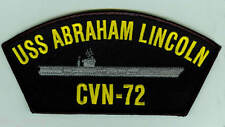 USS Abraham Lincoln CVN-72 embroidered patch US Navy nuclear aircraft carrier