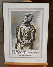 Seated Harlequin Picasso Early Years Vintage Paris Gallery Exhibition Poster